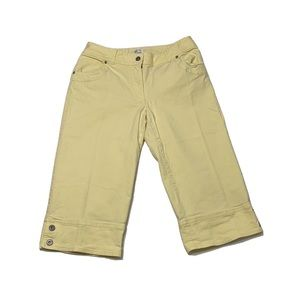 Yellow Stretch Fisher Capris